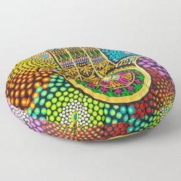 Hamsa Hand, hand of fatima, mandala, yoga art, mandala art, meditation art Floor Pillow