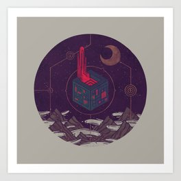 It Appeared in the Night Sky, and It Made the Wind Sharp Art Print