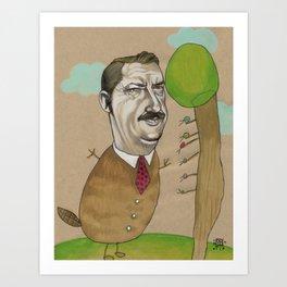 Mr Beever Art Print