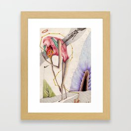 The Tired Monster Framed Art Print