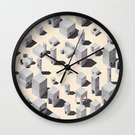 Architecture Blocks Wall Clock