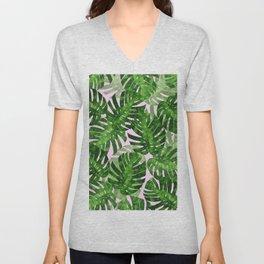 Tropical leaf VI Unisex V-Neck