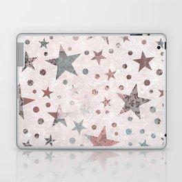 Pink Patchwork Stars Laptop & iPad Skin