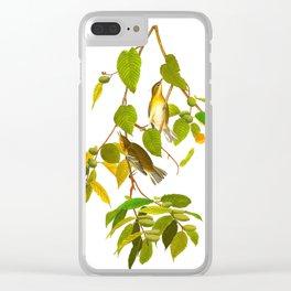 Autumnal Warbler James Audubon Vintage Scientific Illustration American Birds Clear iPhone Case