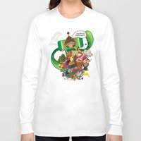 katamari Long Sleeve T-shirts featuring Chestnut Katamari by Ed Warner