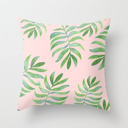 Shake Your Palm Palms - Palm Leaf Quote Throw Pillow