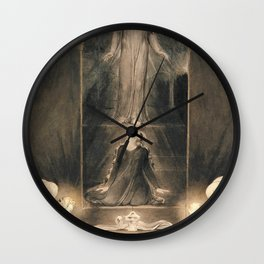 William Blake - Mary Magdalen at the Sepulchre - Digital Remastered Edition Wall Clock