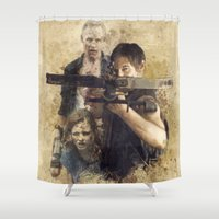 daryl dixon Shower Curtains featuring The Walking Dead Daryl Dixon  by ttmygsquee