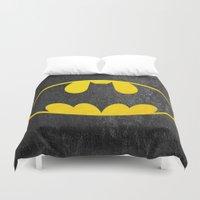 bat man Duvet Covers featuring Bat man by S.Levis