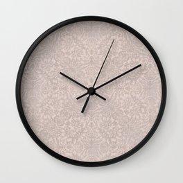 Damask Pattern Smoke Rose Wall Clock