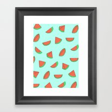 Watermelon Print Framed Art Print