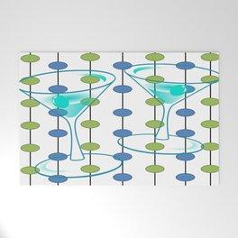 Mid-Century Modern Atomic Art Cocktails 1.0 Welcome Mat