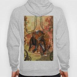 Steampunk, steampunk elephant Hoody