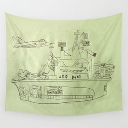 The USS Ryan Carrier Wall Tapestry