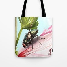 Fly on a flower 15 Tote Bag