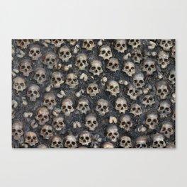 Skull Rug 4x6 Canvas Print