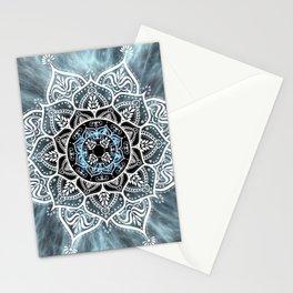 Mandala Nirvana Blue Spiritual Zen Bohemian Hippie Yoga Mantra Meditation Stationery Cards