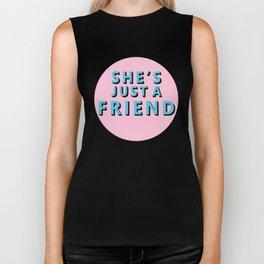 She's Just a Friends Biker Tank