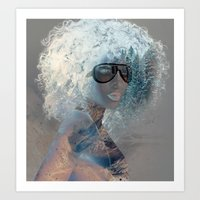 afro Art Prints featuring Afro  by Vin Zzep