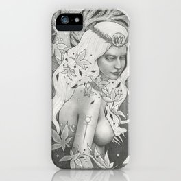 Virgo Full Moon iPhone Case