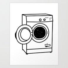 Space Washing Machine Art Print