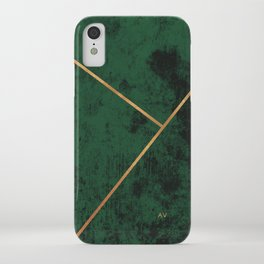 Classic luxury green gold detail iPhone Case