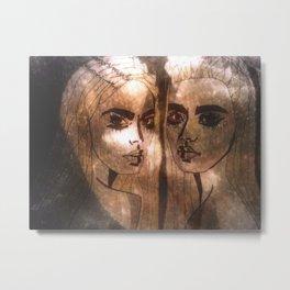 Stefanie and Jenny Metal Print