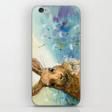Funny rabbits - With Dandelions 548 iPhone & iPod Skin