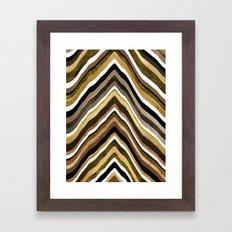 Green/Yellow/Brown Slice Framed Art Print