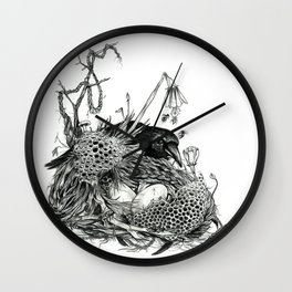 Mother Crow Wall Clock