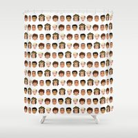 one direction Shower Curtains featuring One Direction by pygmy