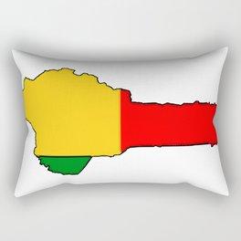 Benin Map with Flag of Benin Rectangular Pillow