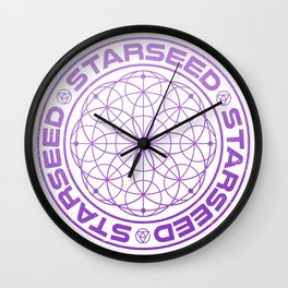 Starseed Scared Geometry Wall Clock