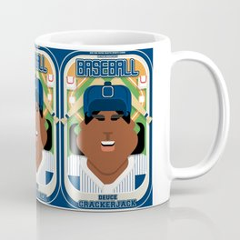 Baseball Blue Pinstripes - Deuce Crackerjack - Aretha version Coffee Mug