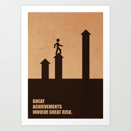 Lab No. 4 -Great Achievements Involve Great Risk Corporate Start-Up Quotes Poster Art Print