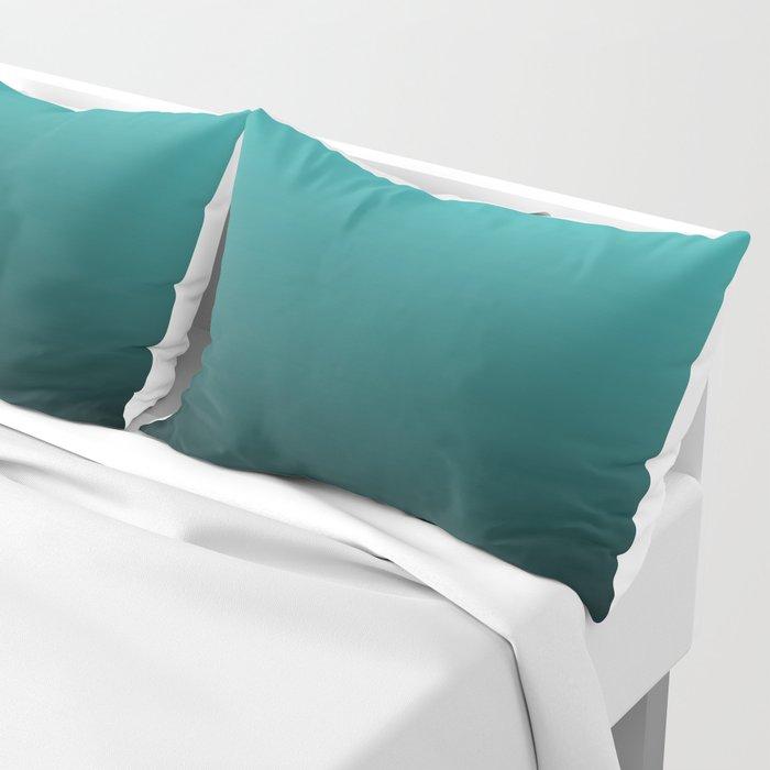 Teal Black Ombre Pillow Sham
