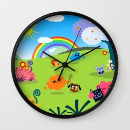 Happy Colorful Planet 02 Wall Clock