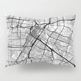 Houston Map White Pillow Sham
