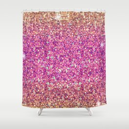 Gold & Pink Glitter Ombre Shower Curtain