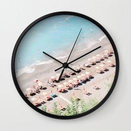 Positano Italy Beach Scene Wall Clock