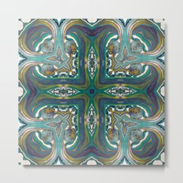 Celtic Cross - Abstract Art by Fluid Nature Metal Print