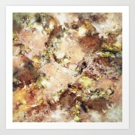 Abraded surface Art Print