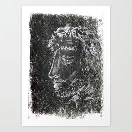 Portrait on Coal Art Print