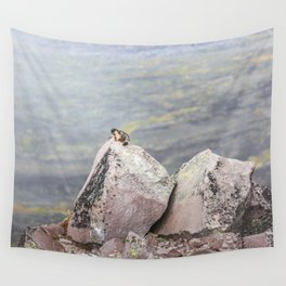 Extremal Groundhog  or King of the Mountain Wall Tapestry