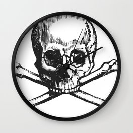 Skull and bones pirate Wall Clock