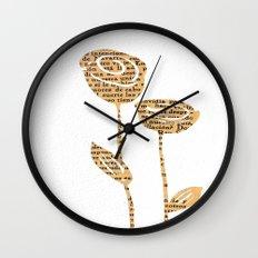 PAPERCUT FLOWER 5 Wall Clock