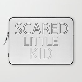 Scared Little Kid Laptop Sleeve