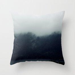 misty mountains 02 Throw Pillow