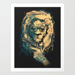 Lion is always Cool Art Print