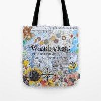 wanderlust Tote Bags featuring Wanderlust by Jenndalyn